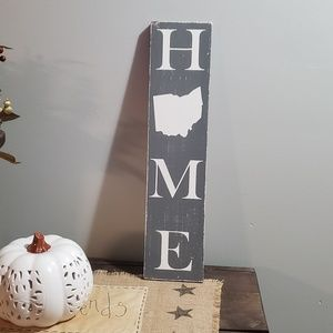 NEW Handmade Large Vertical Rustic OHIO HOME Sign